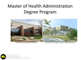 Master of Health Administration Degree Program