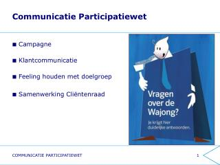 Communicatie Participatiewet