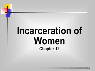 Incarceration of Women Chapter 12