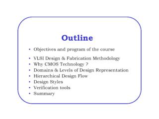 introduction of tools and VLSI design