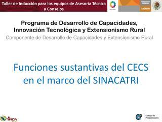 Funciones sustantivas del CECS en el marco del SINACATRI