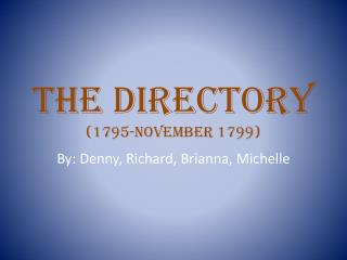 The Directory (1795-November 1799)