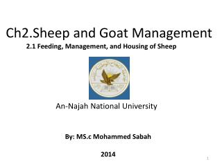 Ch2.Sheep and Goat Management
