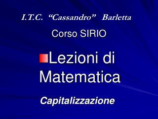 Corso SIRIO