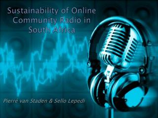 Sustainability of Online Community Radio in South Africa