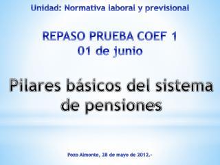 Unidad: Normativa laboral y previsional