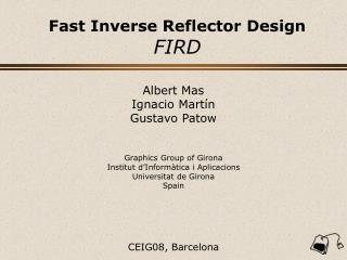 Fast Inverse Reflector Design FIRD