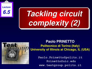 Tackling circuit complexity (2)