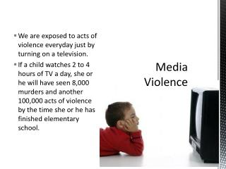 an analysis of effects of television violence Media and violence: an analysis of current research 3   violence in the media and its possible effects on aggressive behavior the paper .
