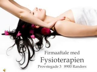 Firmaaftale med Fysioterapien Provstegade 3   8900 Randers