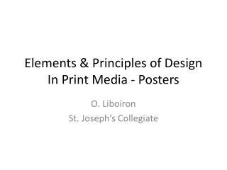 Elements & Principles of Design In Print Media - Posters