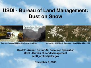 USDI - Bureau of Land Management:  Dust on Snow