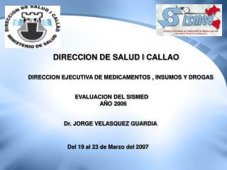 DIRECCION DE SALUD I CALLAO