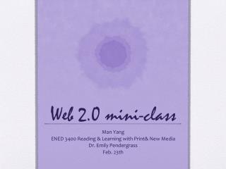 Web 2.0 mini-class