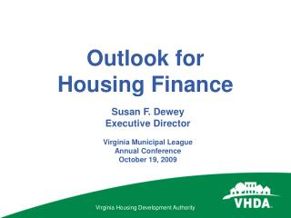 Outlook for Housing Finance