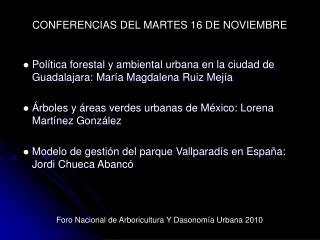 Política forestal y ambiental urbana en la ciudad de Guadalajara: María Magdalena Ruiz Mejía