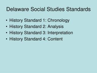 Delaware Social Studies Standards