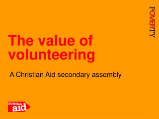 The value of volunteering