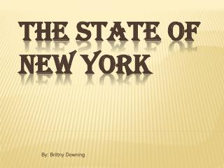 The state of NEW YORK