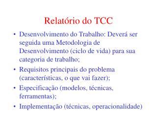 Relatório do TCC