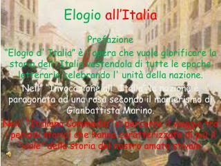 Elogio all'Italia