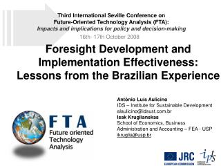 Foresight Development and Implementation Effectiveness: Lessons from the Brazilian Experience