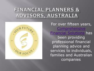 Financial Planners & Advisors, Australia