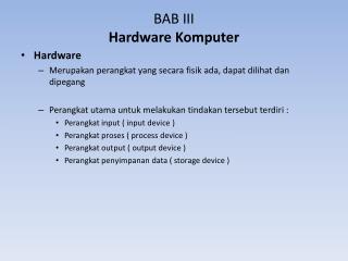 BAB III Hardware  Komputer