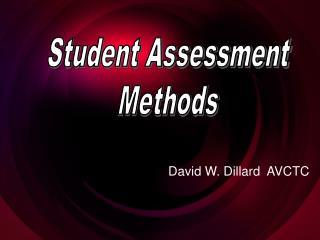 David W. Dillard  AVCTC