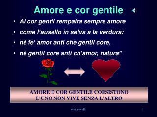 Amore e cor gentile