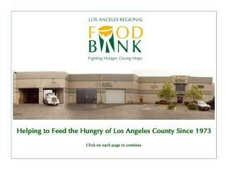 Helping to Feed the Hungry of Los Angeles County Since 1973