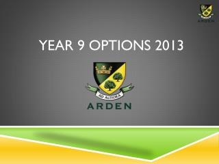 Year 9 Options 2013