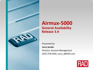 Airmux-5000  General Availability Release 3.4