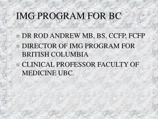 IMG PROGRAM FOR BC