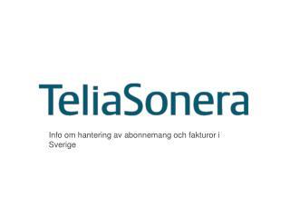 Info om hantering av abonnemang och fakturor i Sverige
