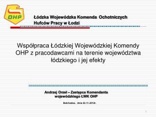 Bełchatów,  dnia 22.11.2012r.