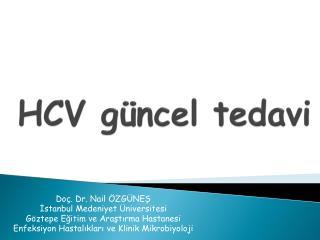 HCV güncel tedavi