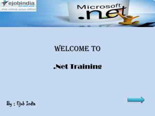 Ejob India - Importance of .net learning