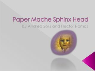 Paper Mache Sphinx Head