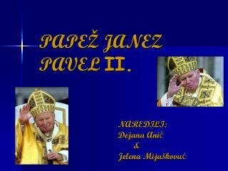 PAPEŽ JANEZ PAVEL  II.