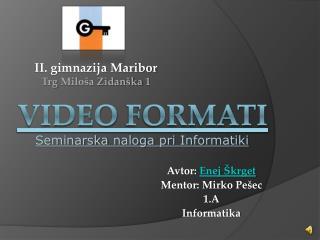 Video formati
