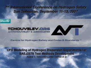 CFD Modeling of Hydrogen Dispersion Experiments for SAEJ2578 Test Methods Development