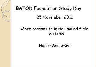 BATOD Foundation Study Day