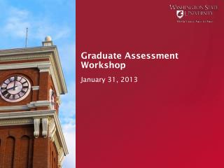 Graduate Assessment Workshop