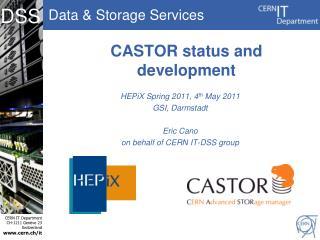 CASTOR status and development