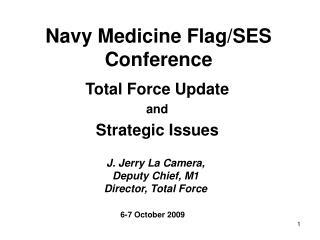Navy Medicine Flag/SES Conference