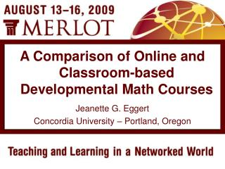 Jeanette G. Eggert Concordia University – Portland, Oregon