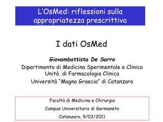 I dati OsMed