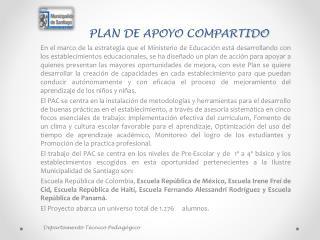 PLAN DE APOYO COMPARTIDO
