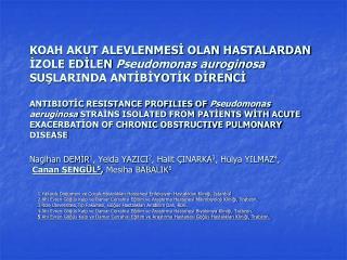 1 Yakacık Doğumevi ve Çocuk Hastalıkları Hastanesi Enfeksiyon Hastalıkları Kliniği, İstanbul